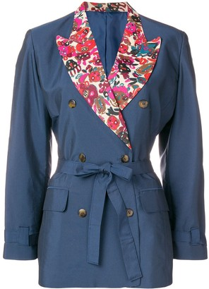 Jean Paul Gaultier Pre-Owned floral detail tied blazer
