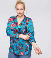 LOFT Plus Wildflower Satin Shirt