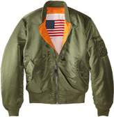 Alpha Industries Men's MA-1 Bomber Blood Chit Flight Jacket