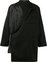 Yohji Yamamoto double blazer - men - Cotton/Linen/Flax/Cupro - 3