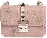 Valentino Mini Lock Embellished Leather Bag