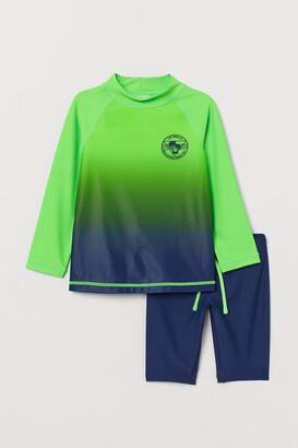 H&M Swim Set UPF 50 - Green
