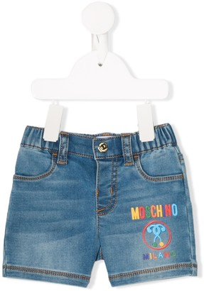 MOSCHINO BAMBINO Branded Letter Shorts