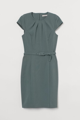 H&M Dress with Belt - Green