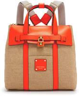 Henri Bendel Jetsetter Mini Convertible Straw Backpack