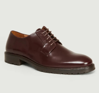 Anthology Paris - Burgundy Leather Polido Derbies - 40 | burgundy | leather - Burgundy