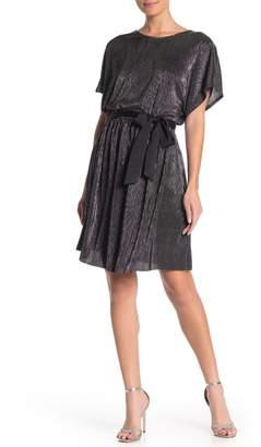 Vanity Room Dolman Metallic Waist Tie Dress