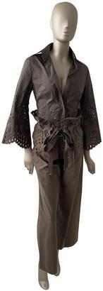 Gianfranco Ferre Brown Silk Top for Women