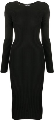 Elisabetta Franchi Long-Sleeve Fitted Midi Dress