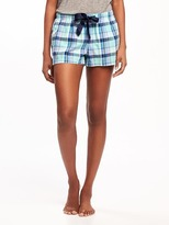 Old Navy Poplin Sleep Boxers for Women