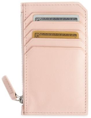Royce New York Zip Leather Card Wallet