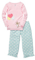 Carter's Girls' 12M-4T Pink/Turquoise 2-pc. Long Sleeve Mouse Pajama Set