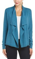 Magaschoni Cashmere Draped-front Short Cardigan.