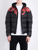 Marcelo Burlon County of Milan Snake-print hooded quilted shell jacket
