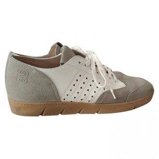 Loewe White Leather Trainers