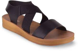 Wanted Pull-On Cross Strap Sandals - Kendra