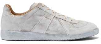 Maison Margiela Replica Painted Suede Trainers - Grey