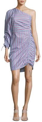 Parker Harmond Linear One-Shoulder Dress