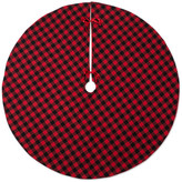 Buffalo David Bitton Design Imports DII Holiday Tree Skirt Red and Black Check
