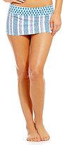 Daniel Cremieux Paisley Leaves Banded Skirt