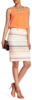 Trina Turk Dorris Zip Multicolor Stripe Skirt