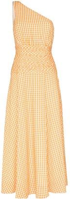 Peony Swimwear Mandarin one-shoulder midi dress