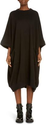 Y's by Yohji Yamamoto M-Loose Cotton Blend Shift Dress