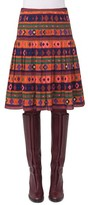 Akris Punto Women's Print Wool Bell Skirt