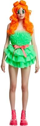 Tulle Mini Dress W/Belt & Wig