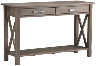 "Brooklyn + Max Kitchener Solid Wood 47"" Contemporary Console Sofa Table, Distressed G"
