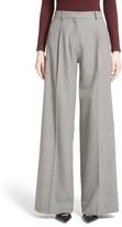 Victoria Beckham Women's Houndstooth Wool Wide Leg Pants