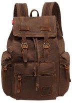 Oncefirst Vintage Canvas Schoolbag Backpack