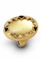 House Of Harlow Resin Stone and Crystals Ring in Gold