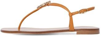Giuseppe Zanotti 10mm Leather Thong Flats