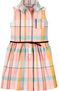 Carter's Toddler Girls Plaid Shirt Dress