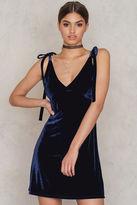 Velvet Tie Strap Dress