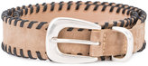 Rag & Bone braided belt - women - Suede - M