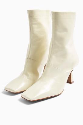 Topshop MAEVA Cream Flared Boots