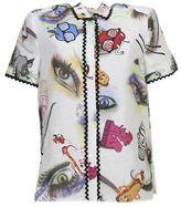 Kenzo Printed Linen And Silk Shirt