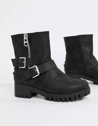 Blink Biker Ankle Boots-Black