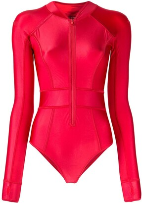 Duskii Cerise long sleeve suit