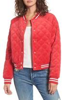 Juicy Couture Women's Quilted Velour Bomber Jacket