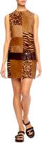 Michael Kors Calf-Hair Patchwork Shift Dress
