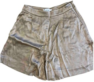 Reiss Gold Shorts for Women