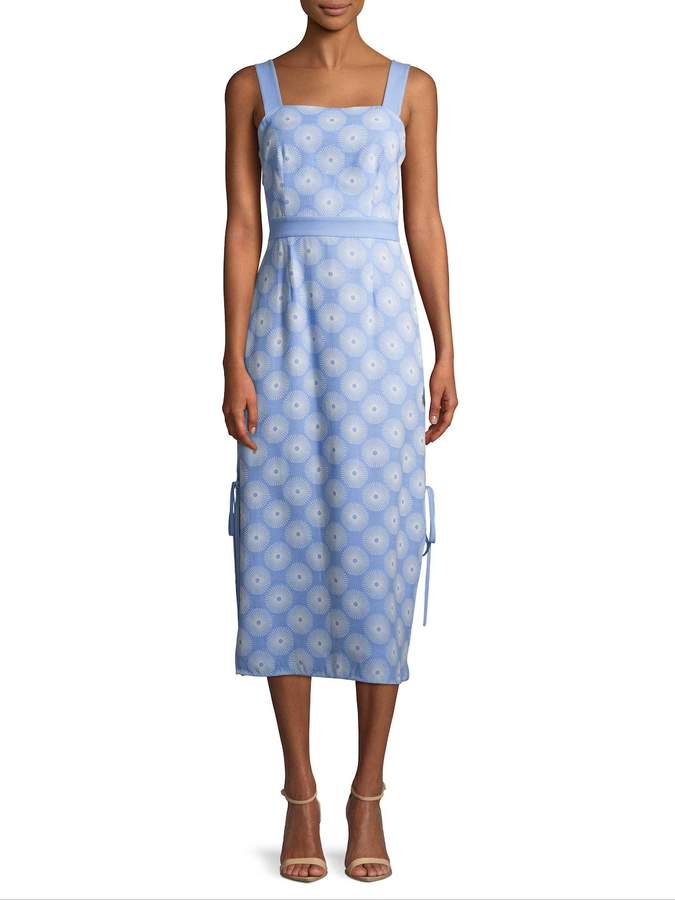 Diane von Furstenberg Women's Check Print Midi Dress