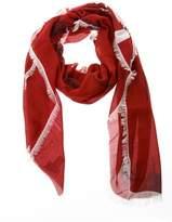 Valentino Vltn Logo Red Cashmere Blend Scarf