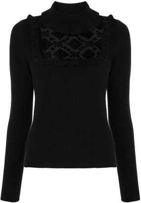 Onefifteen Sheer Panel Cashmere Jumper