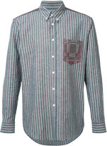 Julien David Lightweight striped shirt - men - Cotton - M