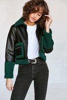 Silence & Noise Silence + Noise Opia Vegan Sherpa Leather Jacket