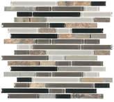 Giorbello Glacier Mountain Random Sized Piano Natural Stone and Glass Mosaic Tile in Slate